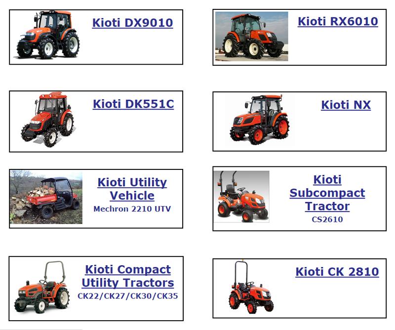 Kioti Tractors list image